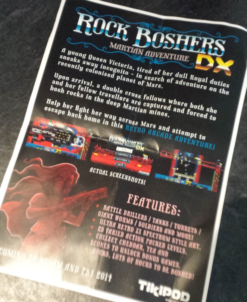 Rock Boshers DX flyer that I grabbed from the developer.